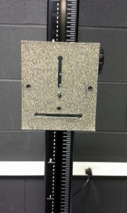 camera stand set up which looks like a face