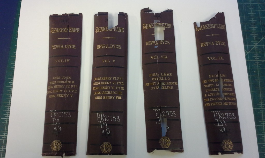 Shakespeare book spines