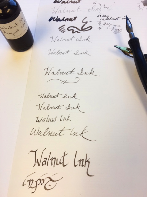 writing samples using the ink