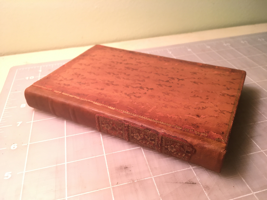 The book after rebacking is completed.