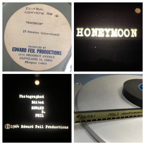 "Original can, screen shots and tail of ""Honeymoon."""