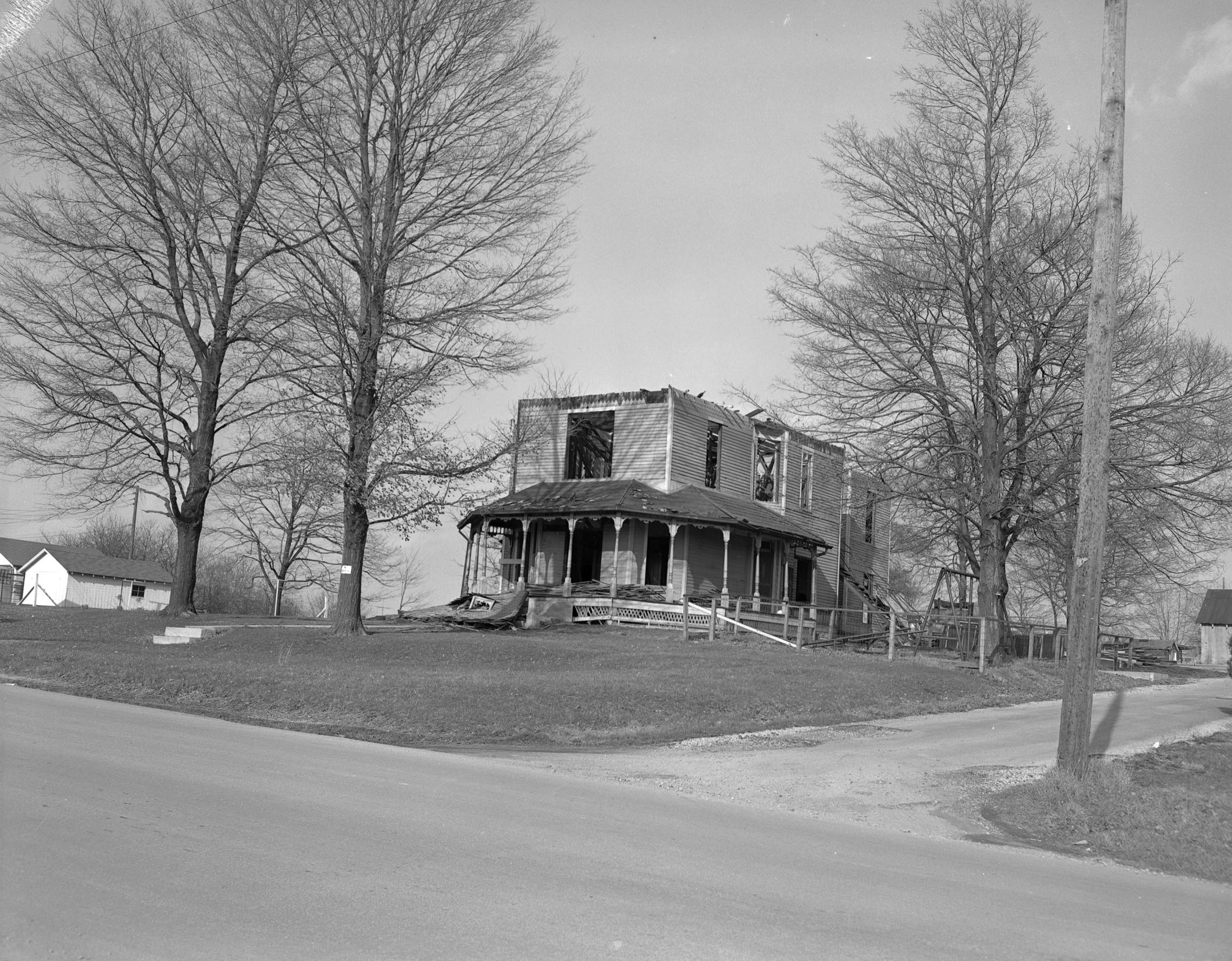 """The """"Pest House"""" facing dismantling in 1957"""