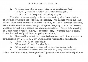 From the 1962-63 student regulations