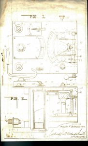 A portion of the mechanical plans submitted along with Borkenstein's original Breathalyzer patent application, 1954.