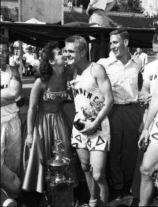 Actress and singer Lu Ann Simms served as the first Little 500 Sweetheart in 1953.