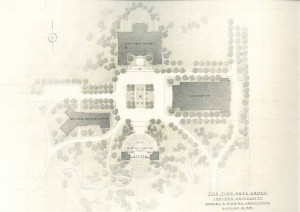 Architectural proposal by Eggers and Higgins, 1939