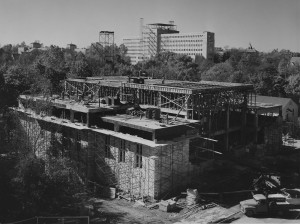 Lilly Library Under Construction, 1958