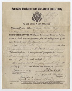 Honorable Discharge Papers
