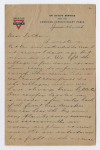 Goff's Letter Home