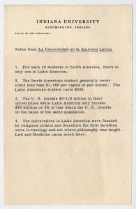 Statistics about education in Latin America, circa early 1960s.