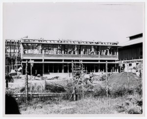 A new dormitory under construction.