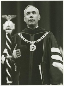 President Ehrlich at the 1989 Commencement.