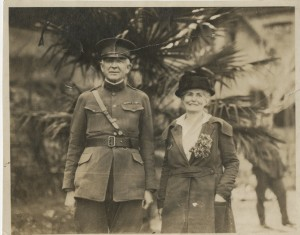 Colonel Bicknell and his wife, Grace, in Constantinople in 1919.