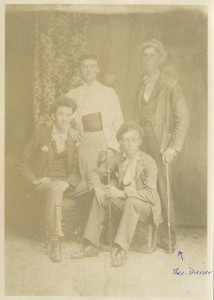 Circa 1890 (Theodore Dreiser is in the back at right. The other individuals are unknown)