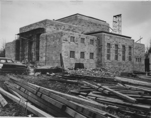 Construction of the Lilly, March 2, 1959.