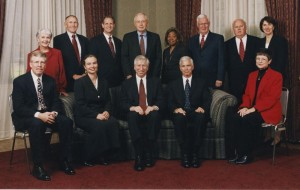 Brand with the Board of Trustees and IU Administrators