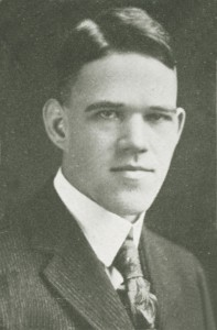 William Ringer, Class of 1920 and member of the SATC.