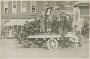 Armistice celebrations in downtown Bloomington.