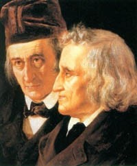 The Brothers Grimm (Wilhelm, left, and Jacob)