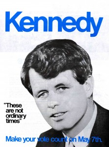 "Kennedy campaign poster - ""These are not ordinary times"""