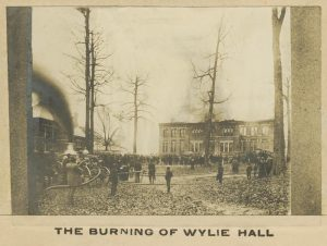 The only known photograph of the fire.