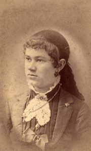 Photograph of Frances Morgan Swain, circa 1887-1889