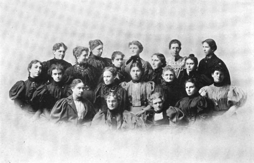Group photograph of IU Women's League officers, 1896