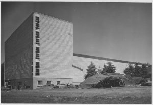 Construction on East Hall in 1948.