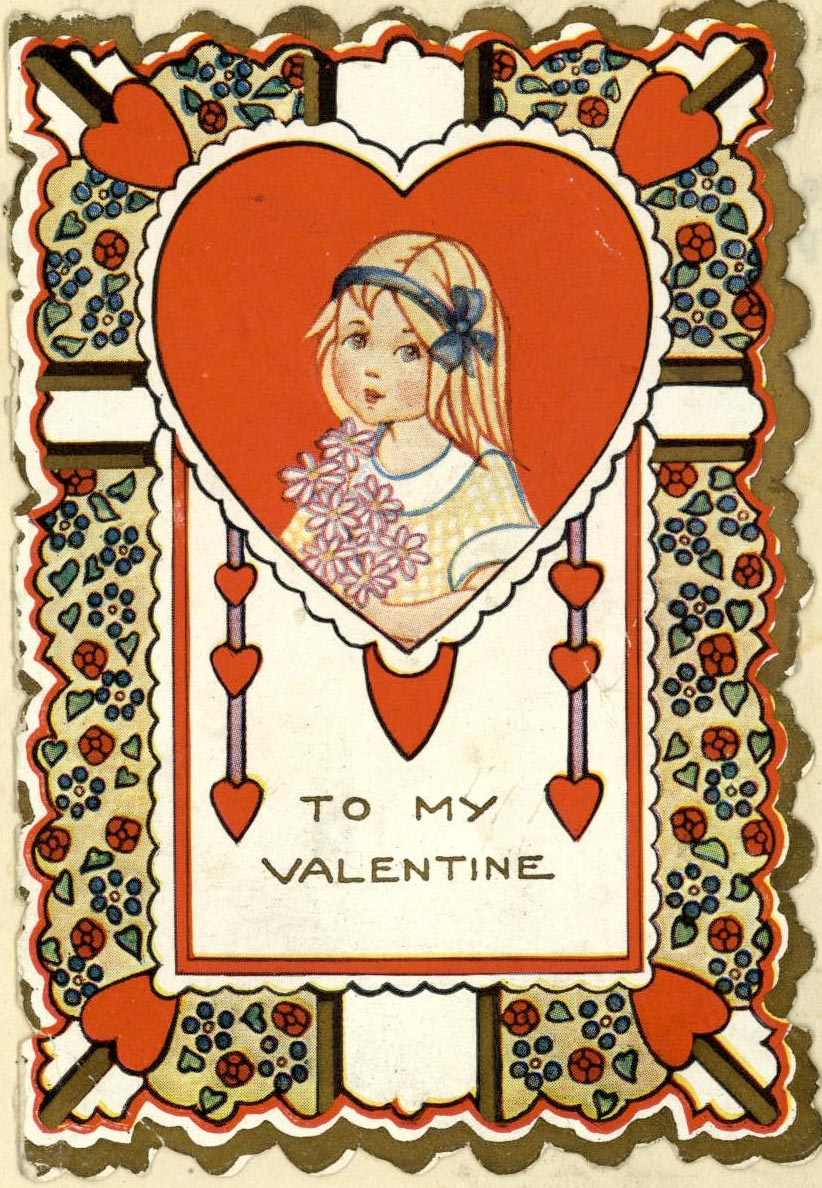 Valentine from Cecilia Hennel Hendricks family papers, IU Archives Collection C413.