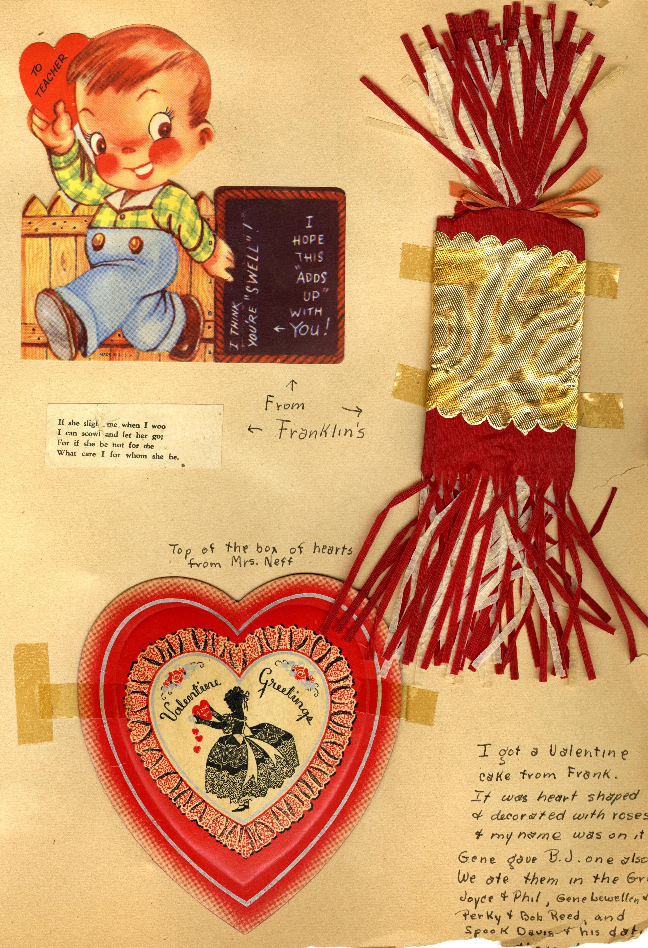 Page from the scrapbook of Joan Richards Neff, class of 1949. IU Archives Collection C597.