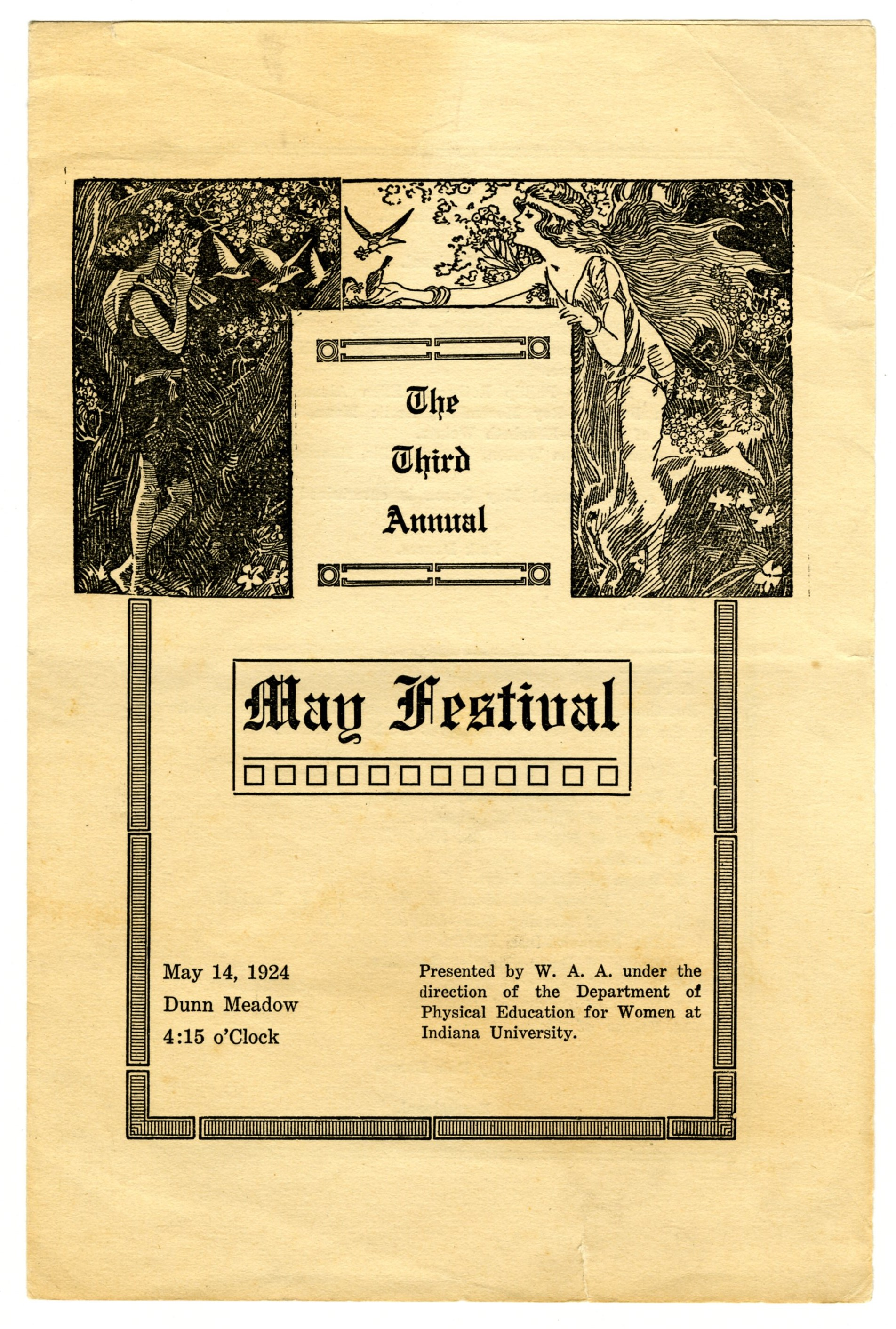 Program for the 1924 May Festival, IU Archives C693