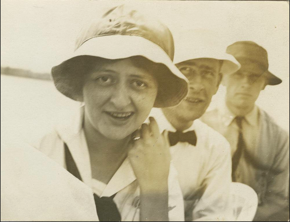 Pauline Day pictured with two unknown men
