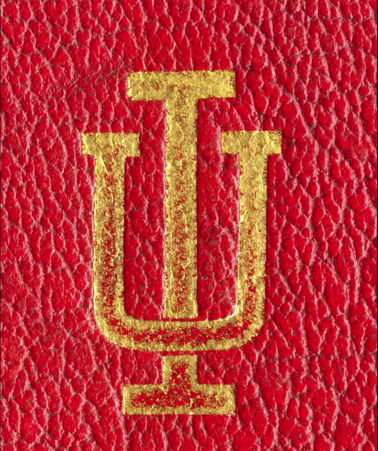 The IU Trident Logo on the 1914 Red Book Cover
