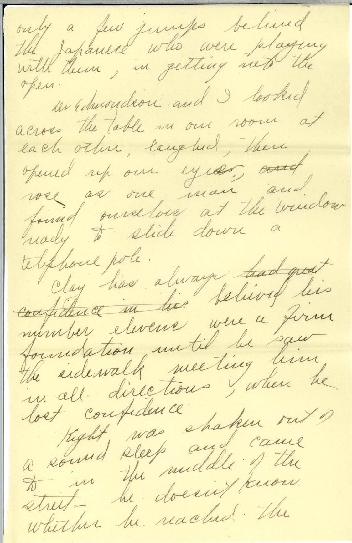 Scan of page 3 of Edna Hatfield's April 30, 1922 letter to Frank R. Elliot - written in cursive handwriting.