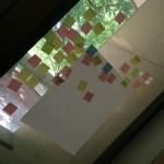 Affinity diagraming as part of our design work for the History of IU Libraries digital archive