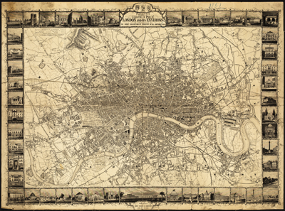 Tallis's Illustrated Plan of London and Its Environs
