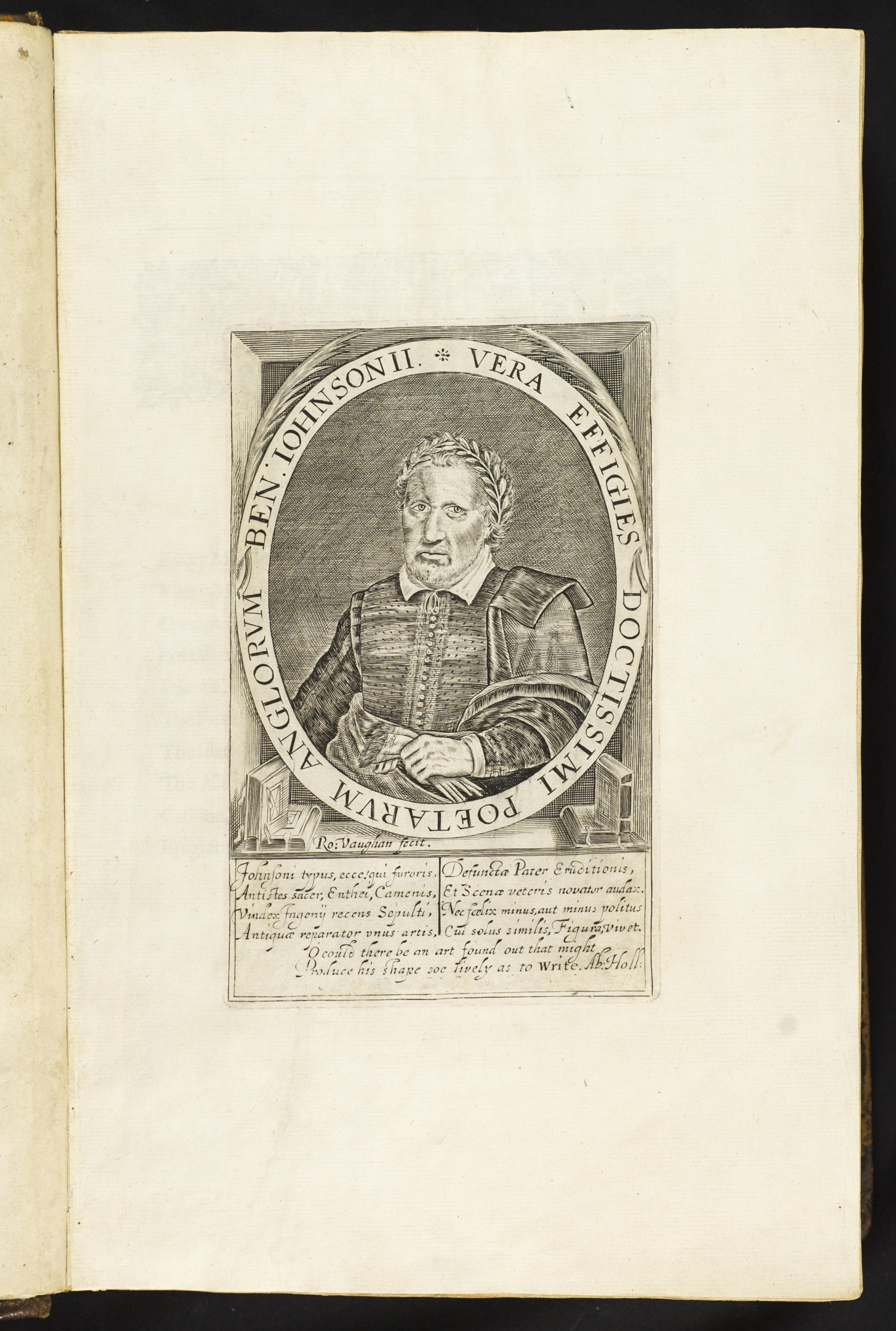 Engraved portrait of Ben Jonson