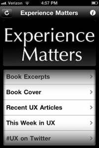Experience Matters Main Interface