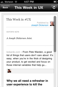 This Week In UX Interface