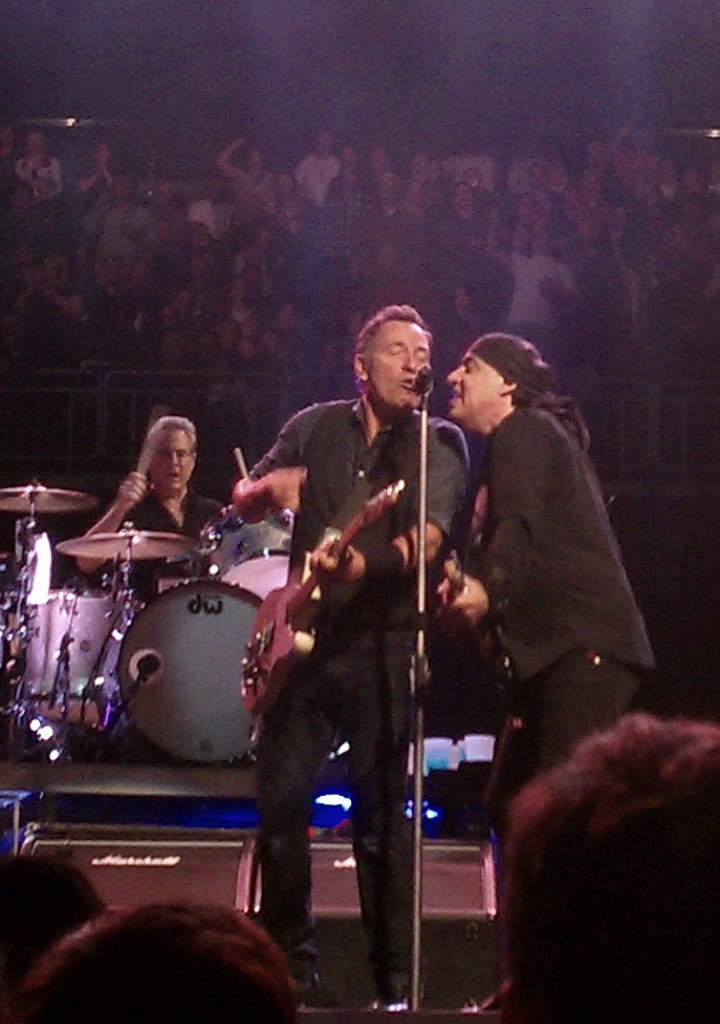 Bruce Springsteen sharing the mic with Stevie Van Zandt