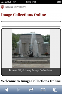 Image Collections Online Mobile