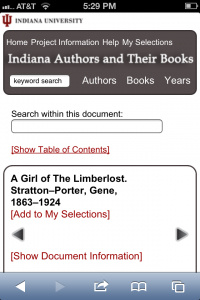 Indiana Authors and Their Books Mobile