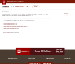 IU-Link: Citation page, full text not found