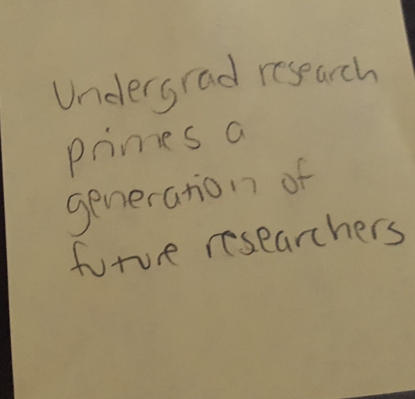 undergrad research primes a generation of future researchers