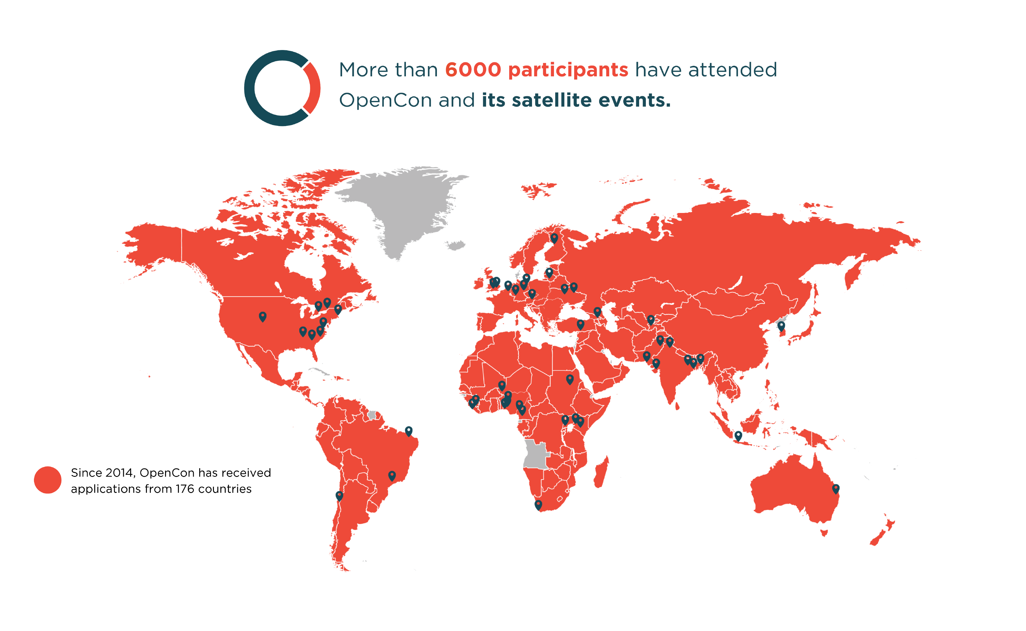 Image 2: Map showing origins of past OpenCon participants