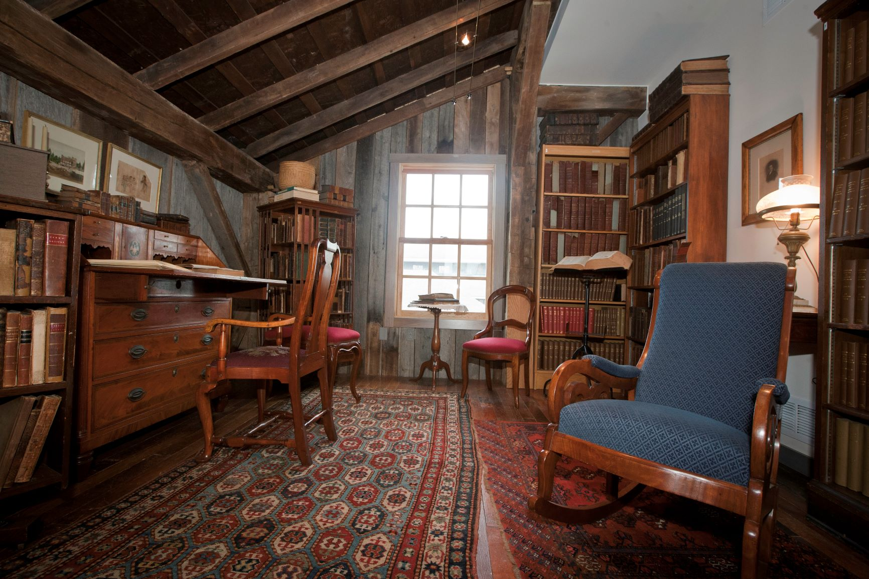 historic books and furniture